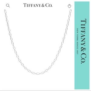 """Tiffany & Co 18k White Gold Oval Link 18"""" Chain"""